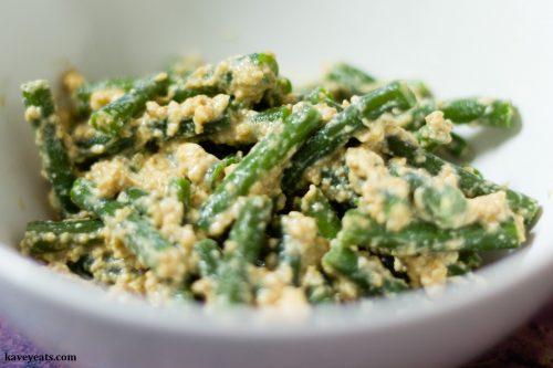Japanese Green Beans Shira-ae (Tofu, Miso & Sesame Dressing)