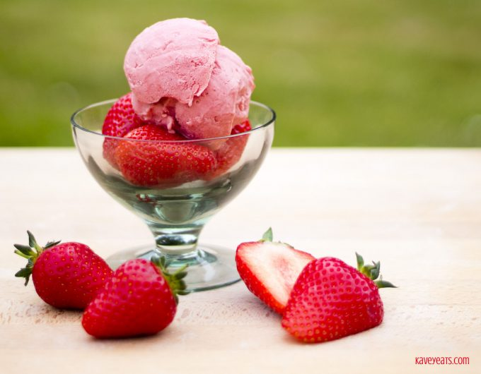 Strawberry Clotted Cream and Pedro Ximinez Ice Cream