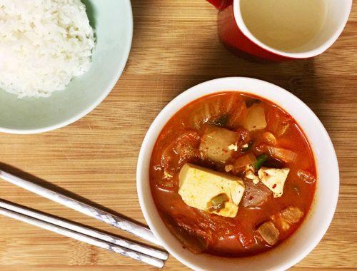 Korean Pork & Tofu Kimchi Jjigae