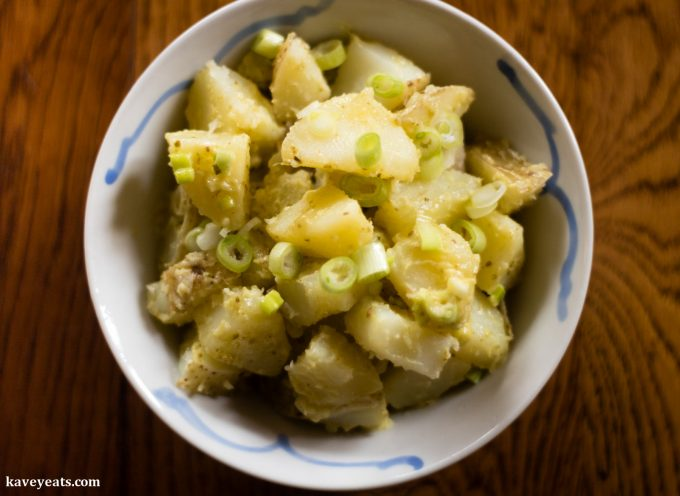 Quick Pesto Mayonnaise Potato Salad