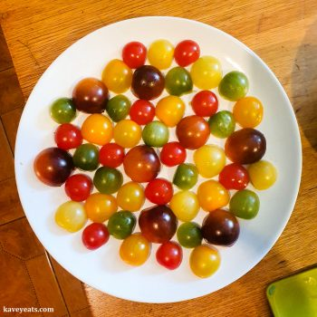 Preparing tomatoes for Tomato Tarte Tatin