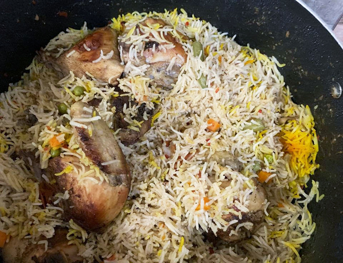 Omani chicken majboos