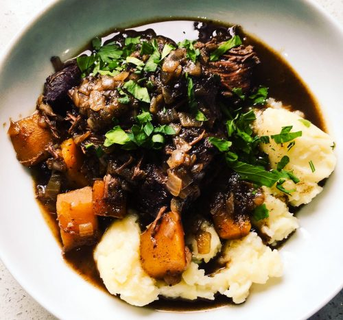 Beef Cheeks with Crushed Potatoes (Aegean)