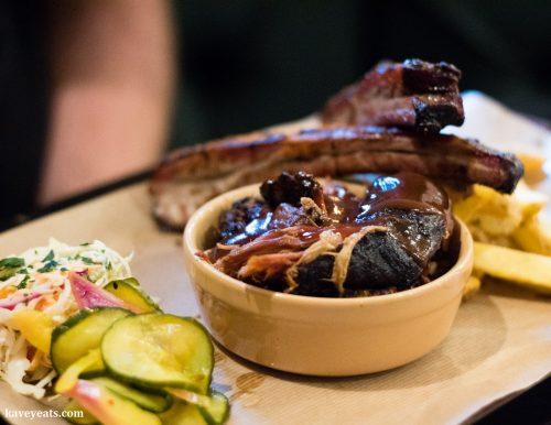 Ribs and Pulled Pork at Hangfire BBQ (Kavey Eats)
