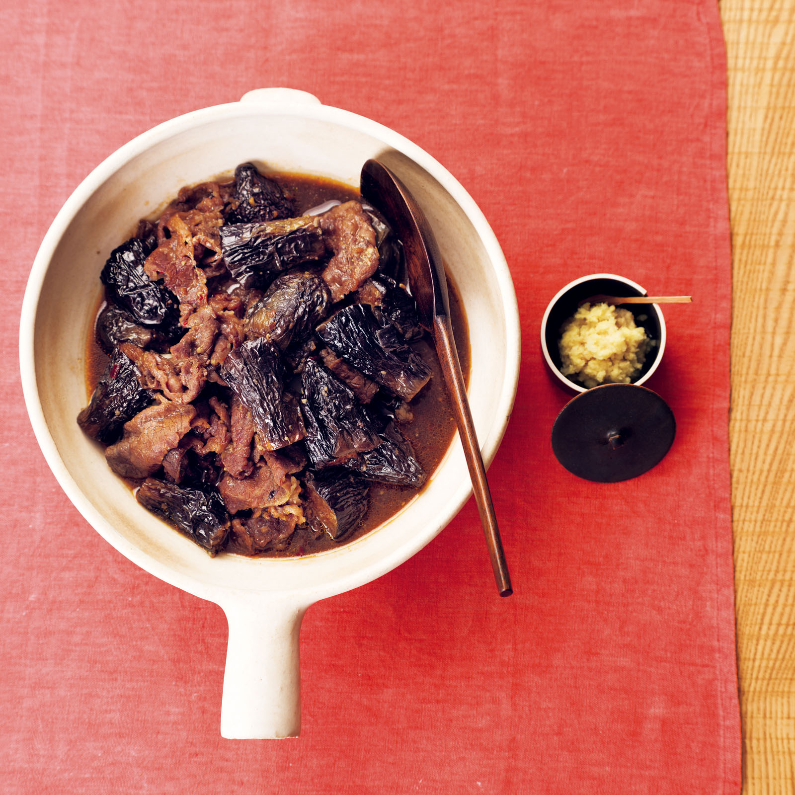 Japanese Aubergine and Beef cooked in Miso