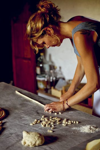 Letitia Clark making pasta (Bitter Honey)