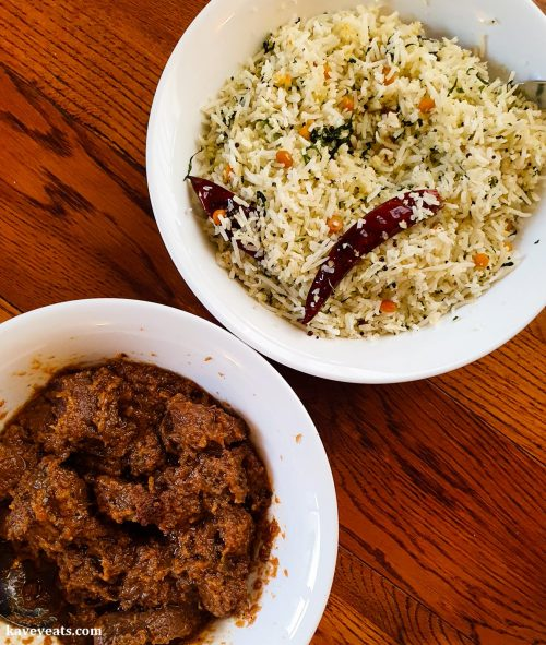 Clays Hyderabadi Kitchen - Bhuna Venison and Coconut Rice
