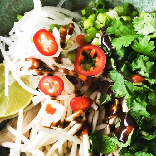 Pho Ga using Hoisin sauce from Condiments book