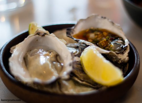 Oysters at Uisce by Heaneys Cardiff restaurant