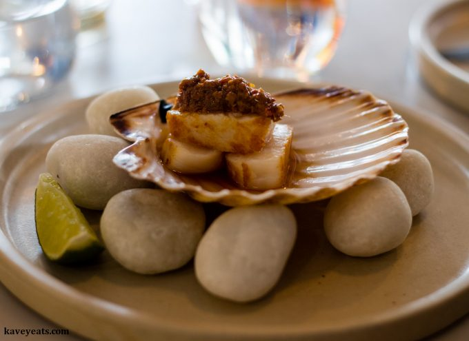 XO Scallop at Uisce by Heaneys Cardiff restaurant