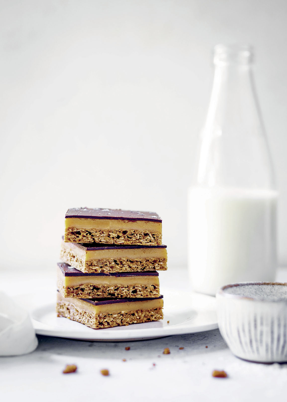 Edd Kimber's Anzac Caramel Chocolate Slices Recipe