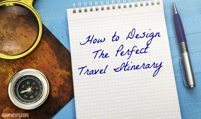 "Hand writing onto a note pad the text ""how to design the perfect travel itinerary"""