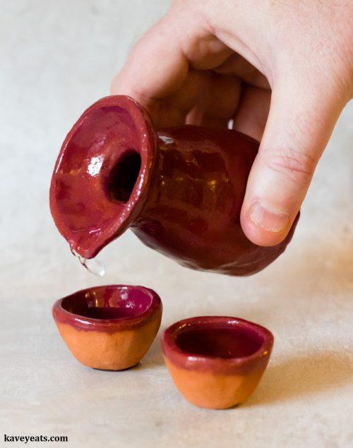 Handmade Japanese Sake Set (Tokkuri and Choko)