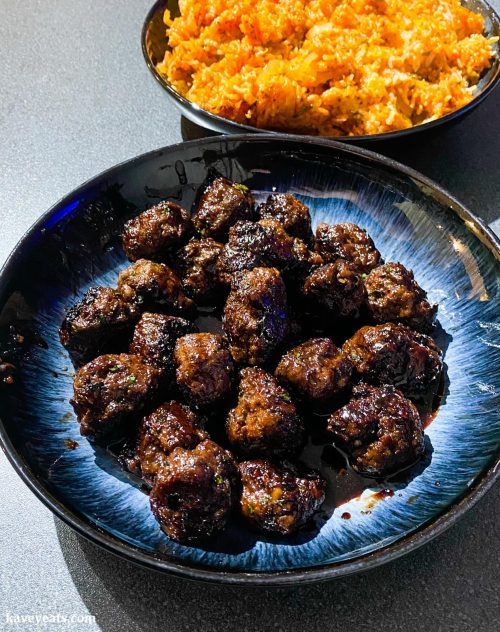 Meatballs and rice from Sabrina Ghayour's Simply cookbook