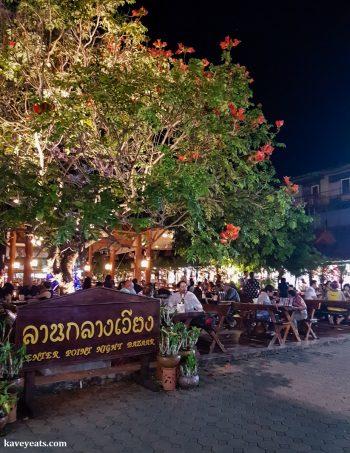 Entrance to Chiang Rai Night Bazaar Thailand