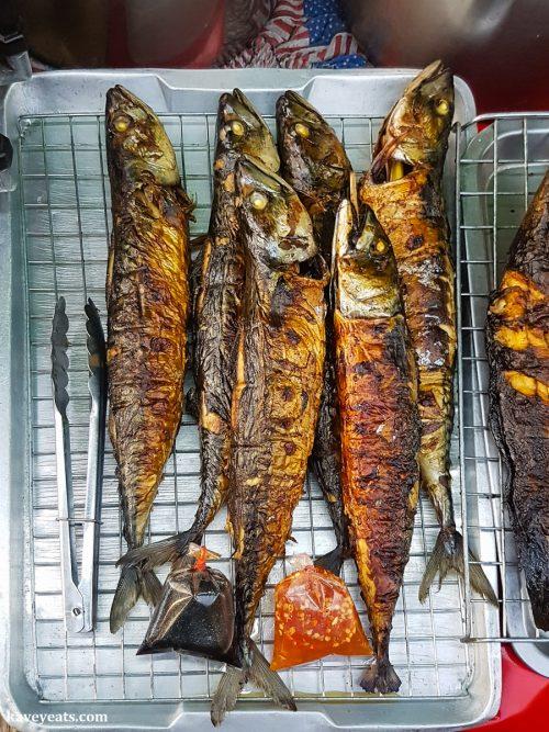Grilled Fish at Bang Lan Night Market in Ayutthaya Thailand