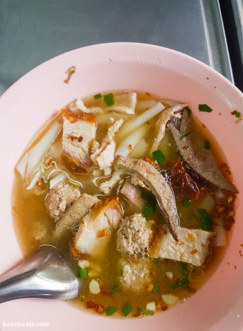 Pork Liver Soup in Bangkok Chinatown Thailand