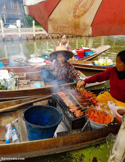 Vendor at Tha Kha Floating Market near Bangkok 4