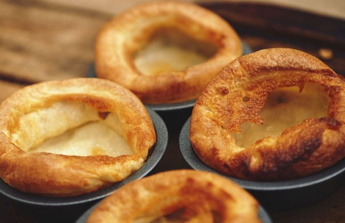 Freshly cooked Yorkshire Puddings