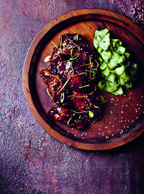 Hoi Sin Buff Ting (Hoisin-Glazed Fried Chicken Wings)