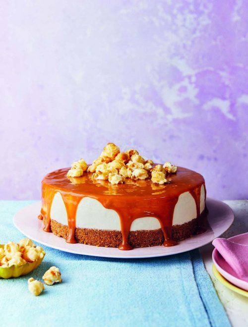Salted Caramel No-Bake Cheesecake (Gluten Free)
