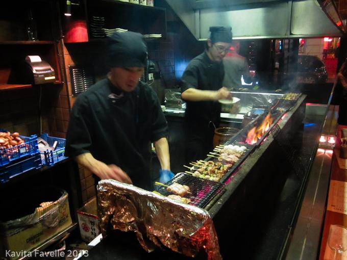 Bincho Yakitori Kitchen in Action