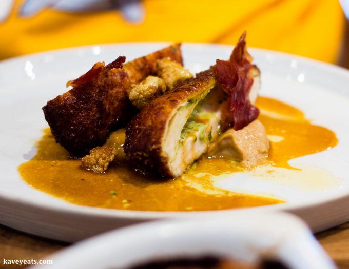 Chicken Kiev, Caramelised Cauliflower, Chicken Butter Sauce