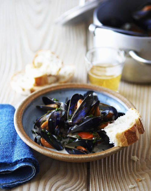 Mussels with Cider and Samphire
