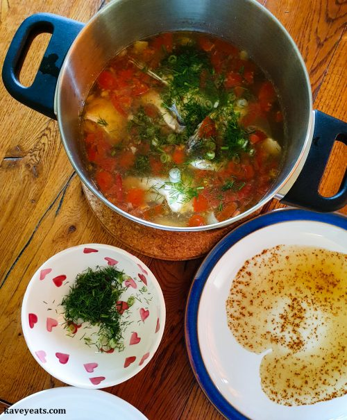 Vietnamese Sea Bass with Dill and Tomato