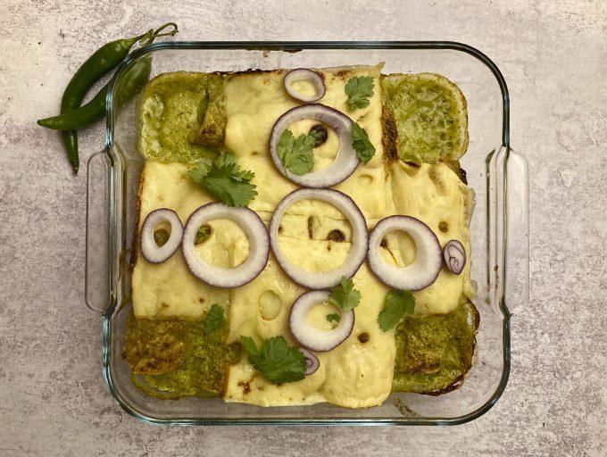 Green Enchiladas (Enchiladas Verdes)
