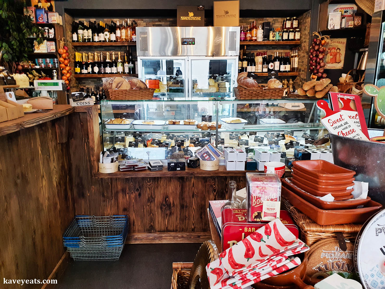 Inside Madame Fromage Abergavenny