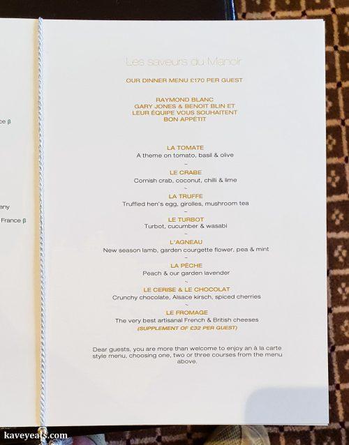 Tasting Menu at Le Manoir aux Quat' Saisons