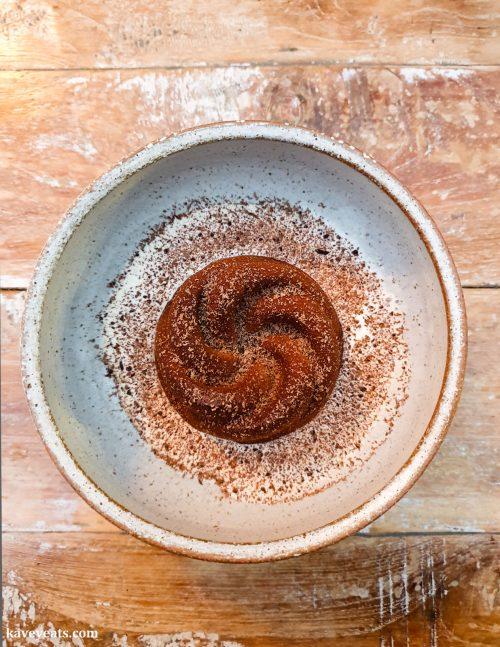 Chocolate mousse with tonka bean caramel