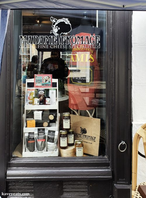 Window of Madame Fromage Abergavenny