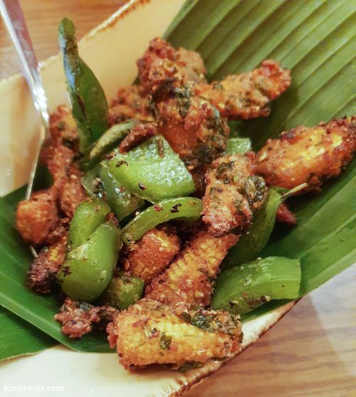 Fried baby corn