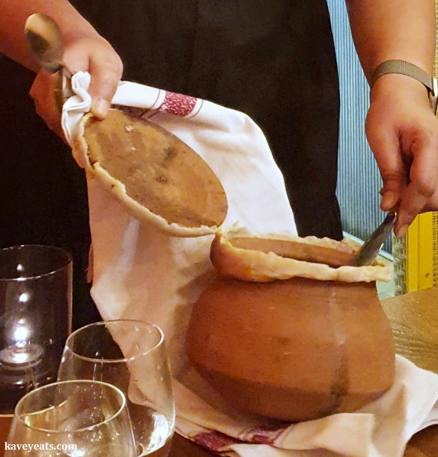 Claypot being opened