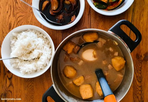 'Tauk Yu Belly Braised Pork Belly from Makan cookbook