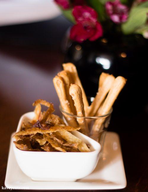 Bread sticks and fried potato