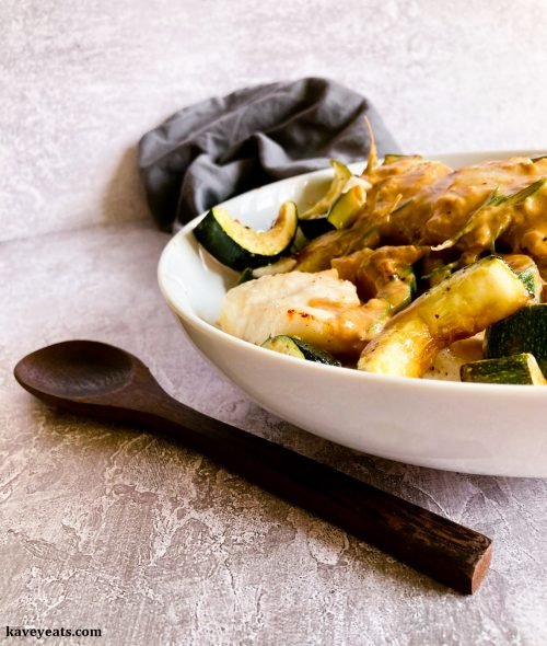 Baked cod with courgettes, rosemary, Marsala and brown crab