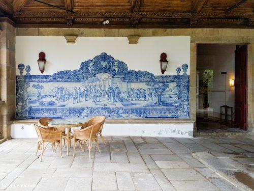 A patio space in Braga, Portugal