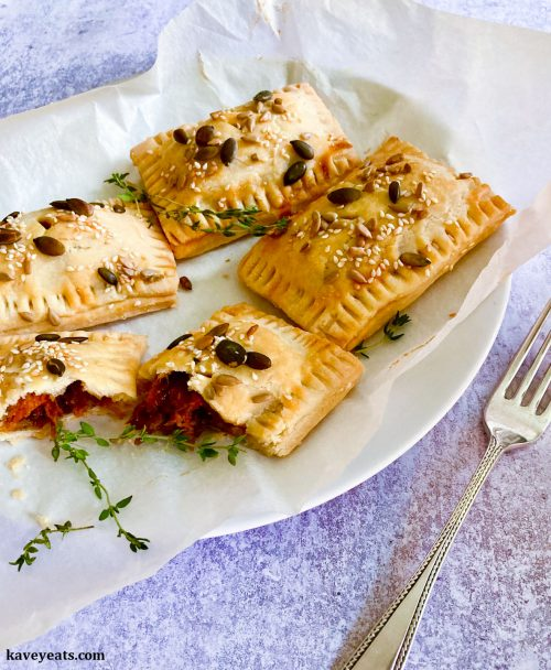 Roasted Butternut Squash + Cheddar Flaky Pastries