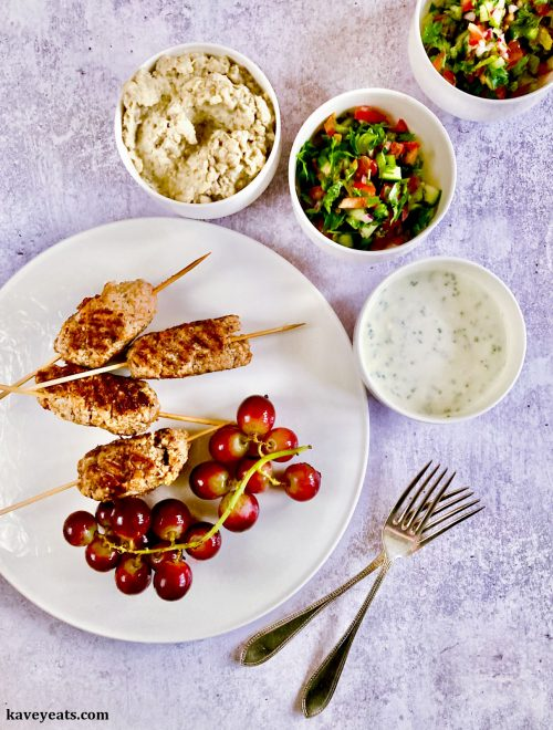 Mackerel Kofta with BBQ Grapes and Sour Yoghurt Sauce (Mackerel)