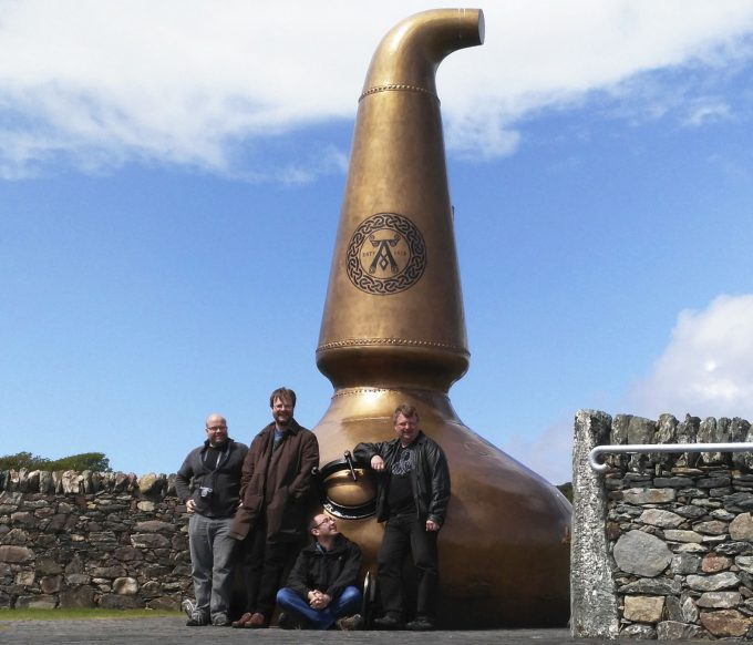 A group of friends in Islay